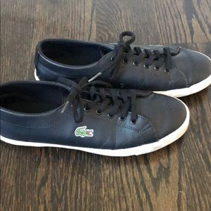 Lacoste gently used black sneakers